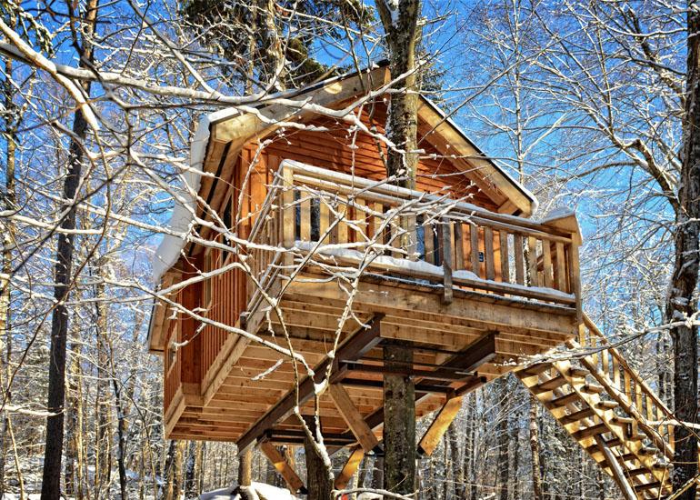Неизбитые туристические маршруты Квебека. Mont-Tremblant Treehouse