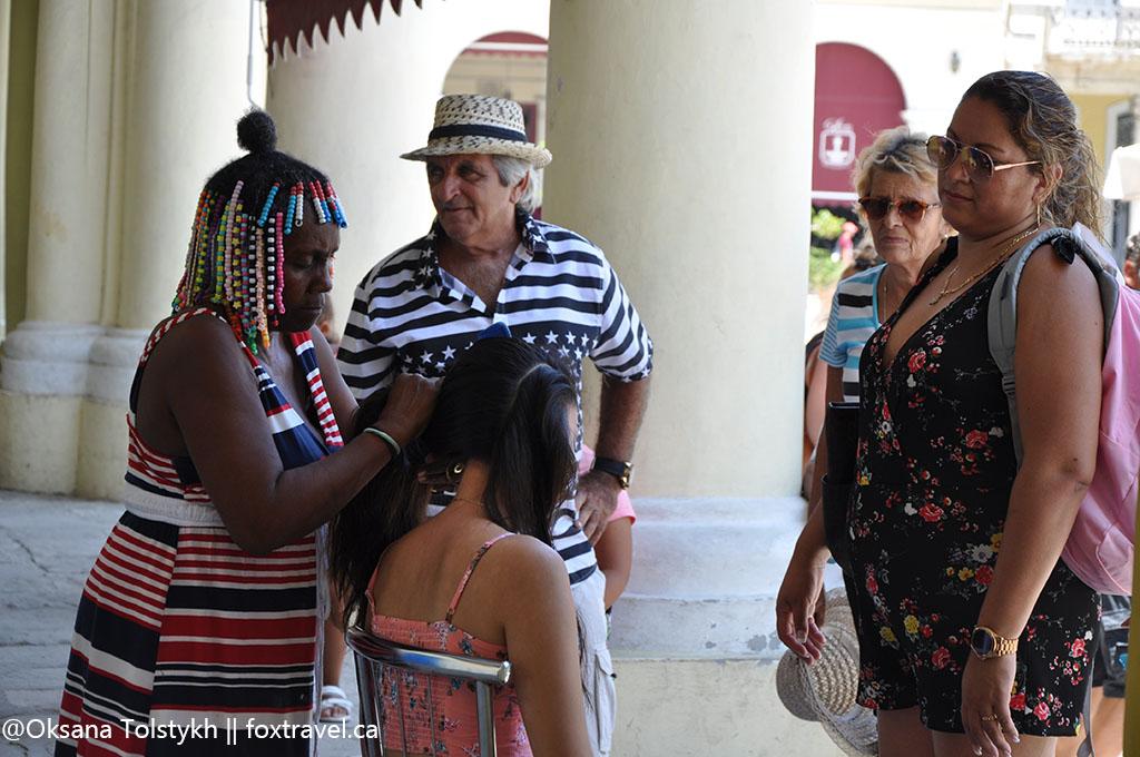 Салон красоты прямо на улице Старой Гаваны