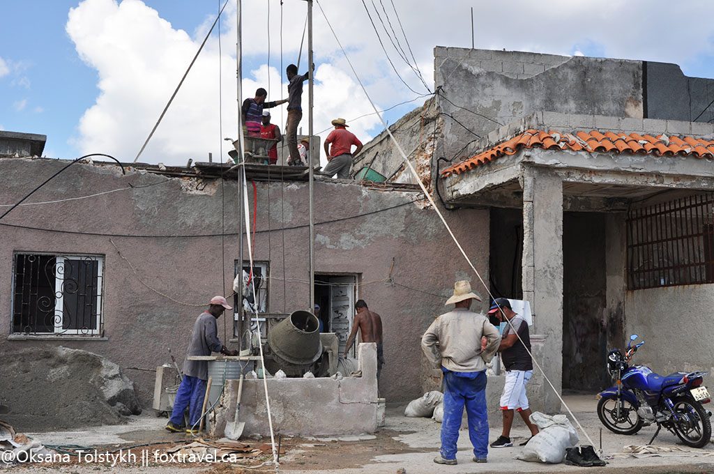 Кубинцы за работой